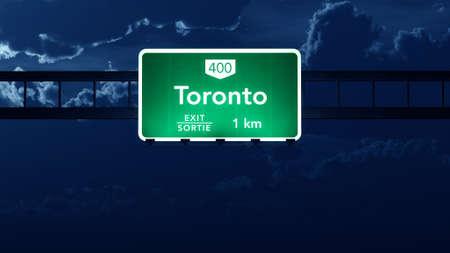 Toronto Transcanada Canada Highway Road Sign