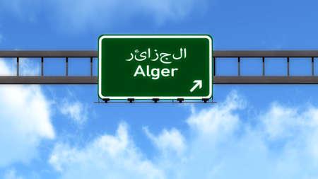 alger: Alger Algeria Africa Highway Road Sign