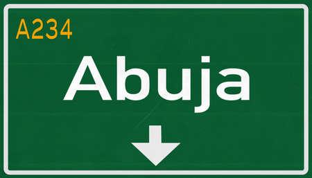 Abuja Nigeria Highway Road Sign