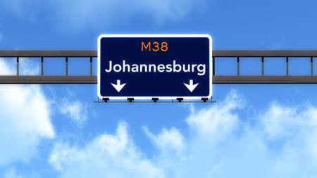 johannesburg: Johannesburg South Africa Highway Road Sign Stock Photo