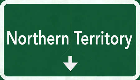 down under: Northern Territory Australia Highway Road Sign