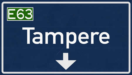 suomi: Tampere Finland Highway Road Sign