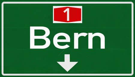 Bern Switzerland Highway Road Sign