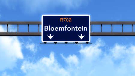 ブルームフォンテーン南アフリカ共和国の高速道路の道路標識 写真素材