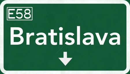 Bratislava Slovakia Highway Road Sign