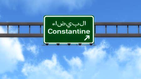 Constantine Algeria Africa Highway Road Sign
