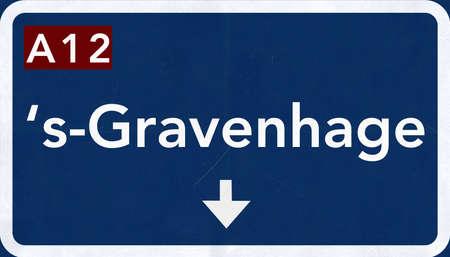 Gravenhage Netherlands Highway Road Sign