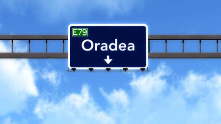 Oradea Romania Highway Road Sign