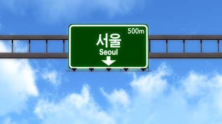 Seoul South Korea Highway Road Sign