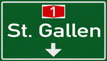 st  gallen: St Gallen Suiza carretera Se�al de circulaci�n