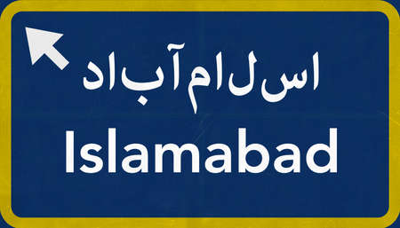 Islamabad Pakistan Highway Road Sign Background Texture