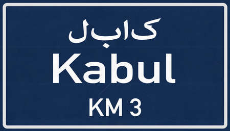 Kabul Afghanistan Highway Road Sign Background Texture