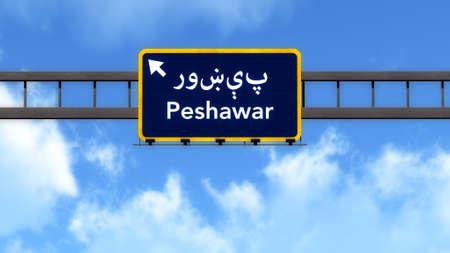 Peshawar Pakistan Highway Road Sign Background Texture
