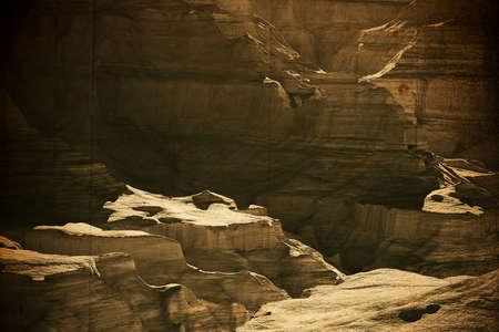 grand canyon: The Grand Canyon in Arizona USA 3D landscape artwork illustration vintage design