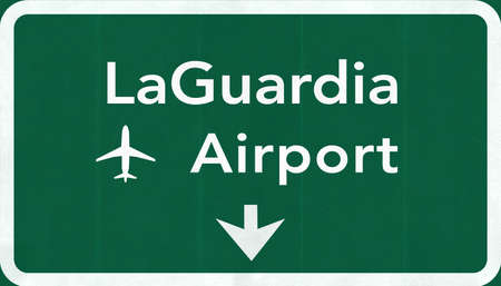 passing the road: New York LaGuardia USA International Airport Highway Road Sign 2D Illustration Texture, background, element