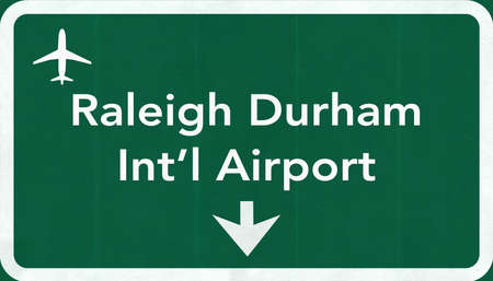 passing the road: Raleigh Durham USA International Airport Highway Road Sign 2D Illustration Texture, background, element