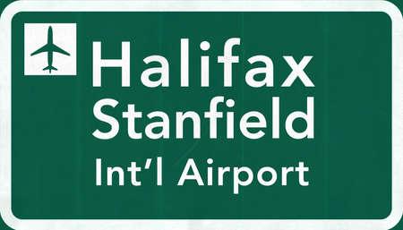 halifax: Halifax Stanfield Canada International Airport Highway Sign 2D Illustration