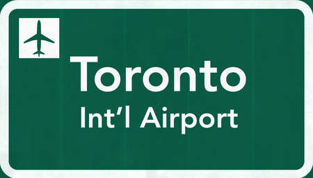 toronto: Toronto Canada International Airport Highway Sign 2D Illustration