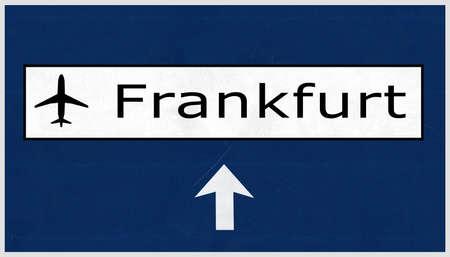 frankfurt: Frankfurt Germany Airport Highway Sign 2D Illustration