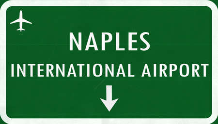 Napoli: Napoli Italy Airport Highway Sign 2D Illustration Stock Photo