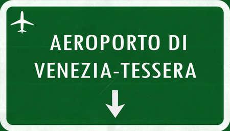 tessera: Venice Italy Airport Highway Sign 2D Illustration