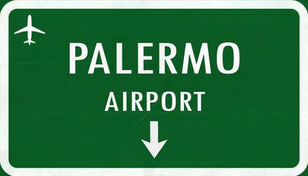 Palermo Italia Aeroporto Highway Registrati illustrazione 2D Archivio Fotografico - 43574625