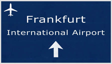frankfurt germany: Frankfurt Germany Airport Highway Sign 2D Illustration