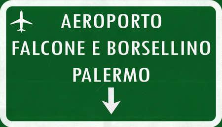 Palermo Italia Aeroporto Highway Registrati illustrazione 2D Archivio Fotografico - 43561866
