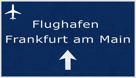 frankfurt: Frankfurt Germany Airport Highway Sign 2D Illustration