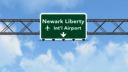 New Jersey USA Airport Highway Sign 3D Illustration Stock fotó - 44718280