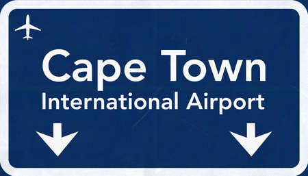 cape town: Cape Town South Africa Airport Highway Sign 2D Illustration