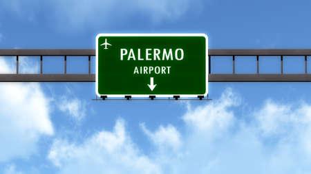 Iscriviti Palermo Italia Airport Highway Road Registrati illustrazione 3D Archivio Fotografico - 44865610