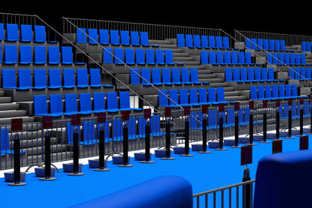 transition: Triathlon Transition Area Empty Depo Zone for Athletes to chnage disciplines 3D Illustration Stock Photo