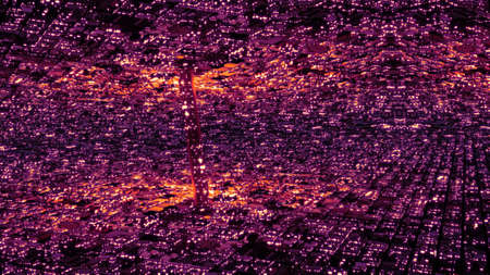 surrealistic: Abstract Sci-Fi Surreal Futuristic Utopia Metropolis 3D Illustration