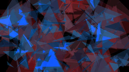 glistening: Blue Red Lowpoly Triangles Background 2D Illustration