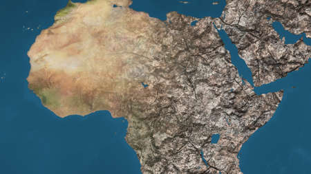 Dying Earth Global Warming Heavy Pollution Affected and Dried Africa Illustration