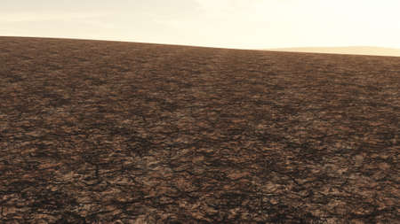 desiccation: Huge Drought Plain Global Warming and Climate Change 3D Illustration