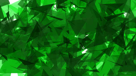 glistening: Green Lowpoly Triangles Background 2D Illustration