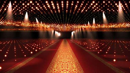 Red Carpet Festival Scene Glamour Illustratie Stockfoto
