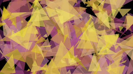 glistening: Yellow Pink Lowpoly Triangles Background 2D Illustration