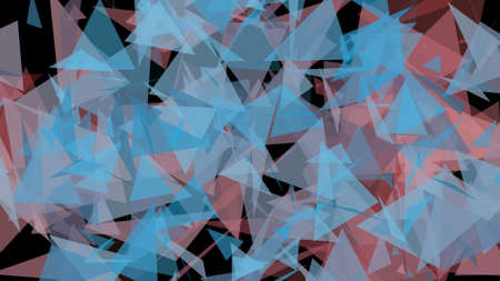 glisten: Blue Red Lowpoly Triangles Background 2D Illustration