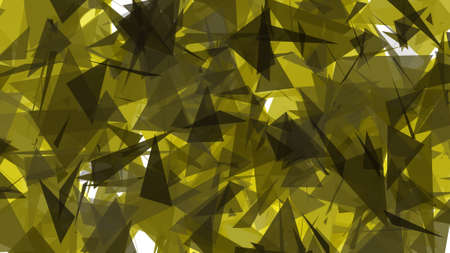 glisten: Yellow Lowpoly Triangles Background 2D Illustration
