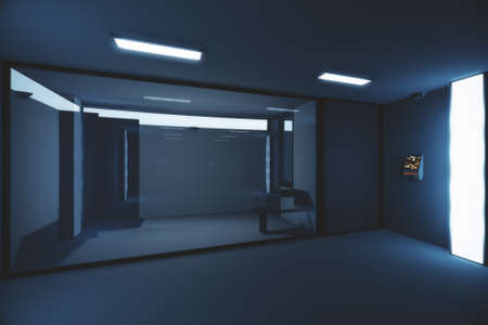 lockup: Hi-Tech Lockup Prison Cell 3D Illustration