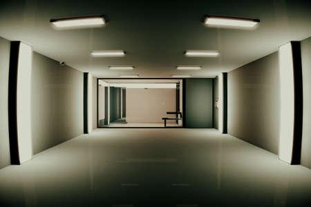 Hi-Tech Lockup Prison Cell 3D Illustration