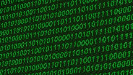 vga: Digital Coding Calculations on a Low Resolution Retro Monochrome VGA Monitor Illustration