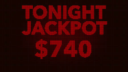 gambling counter: Tonight Jackpot Retro Gambling Machine Display Illustration