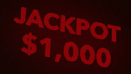 usd: Winning 1000 USD Jackpot Retro Gambling Machine Display Illustration