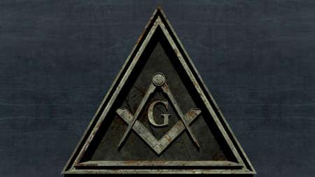 Free Masonic Grand Lodge Sign Editorial 3D Illustration