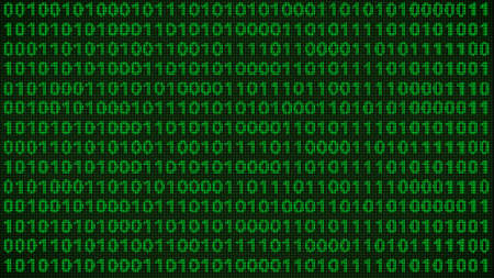 vga: Los cálculos de codificación digital en una ilustración de Baja Resolución retro blanco y negro del monitor VGA