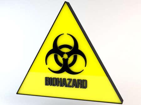riesgo biologico: Biohazard signo ilustración 3D
